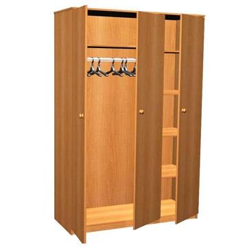 Шкаф для одежды комбинированный 3-створчатый по низкой цене..
